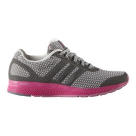 adidas Women's Mana Bounce Running Shoes - Knit Grey/Pink