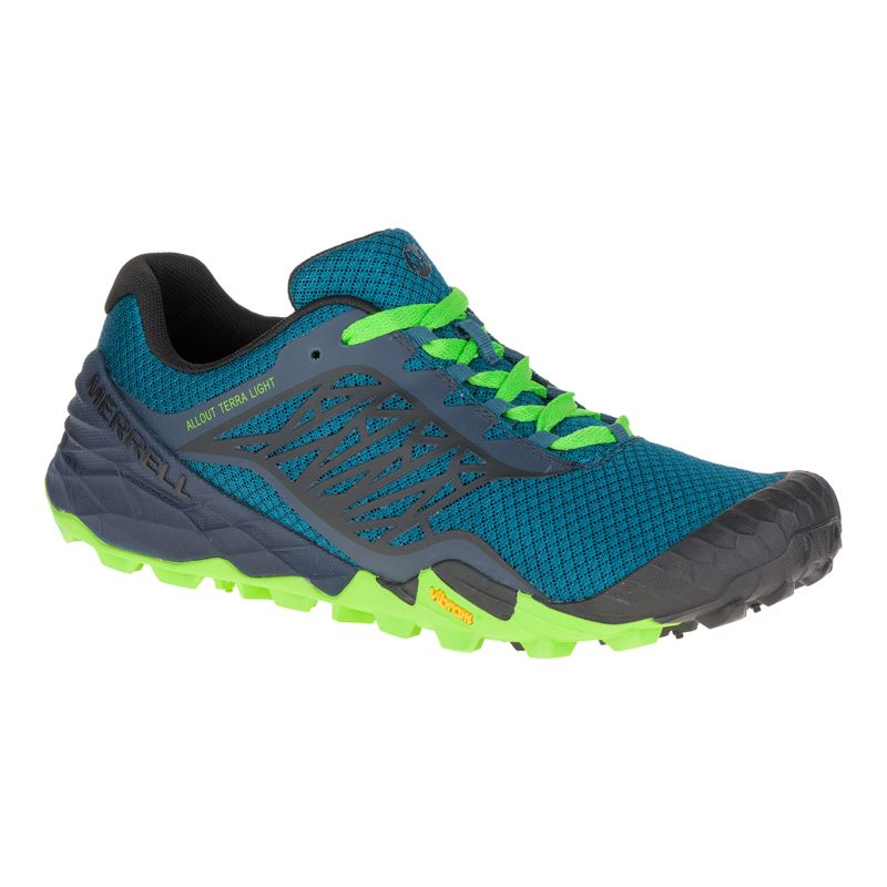 merrell s all out terra trail running shoes blue