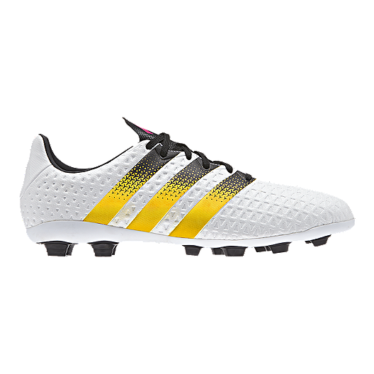 bc052c44db7 adidas Women s Ace 16.4 FG Outdoor Soccer Cleats - White Black Yellow