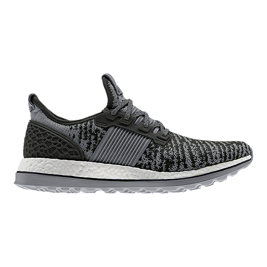 89b3d74a5 adidas Men s Pure Boost ZG MSH Running Shoes - Black Grey Pattern ...