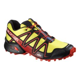 Salomon Men's SpeedCross 3 Trail Running Shoes - Yellow/Black/Red