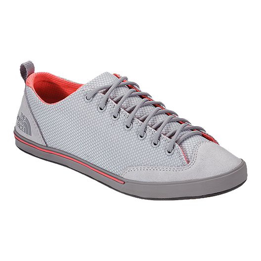 c3732bfa3991 The North Face Women s Base Camp Approach Casual Shoes - Grey Red ...