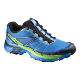 Salomon Men's Wings Pro 2 Trail-Running Shoes - Blue/Green