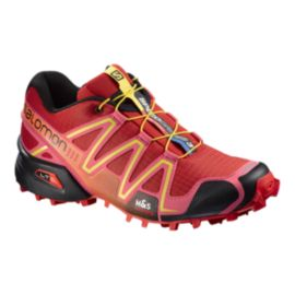 Salomon Women's SpeedCross 3 Trail Running Shoes - Red/Pink/Yellow