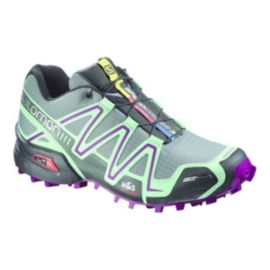 Salomon Women's SpeedCross 3 CS Trail Running Shoes - Teal/Grey/Purple