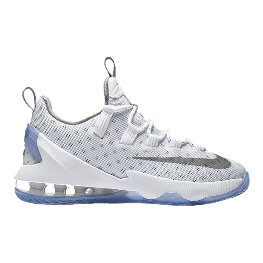 timeless design 7394d fd966 Nike Kids  LeBron XIII Low Grade School Basketball Shoes -  White Silver Iron   Sport Chek