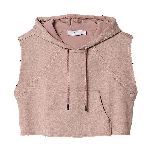 234ddf7b2decb adidas Stella McCartney Yoga Crop Women's Sleeveless Pullover Hoody -  AI8420 TANNED SAND MEL
