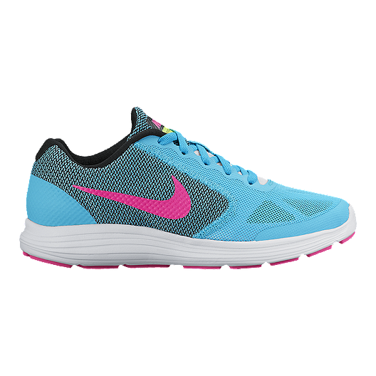d1d644f2d57a5 Nike Girls  Revolution 3 Grade School Running Shoes - Blue Pink Black