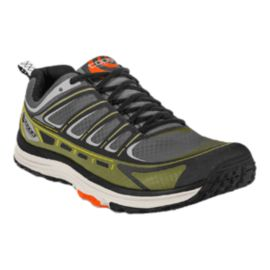 TOPO Men's Runventure Trail Running Shoes - Grey/Olive Green