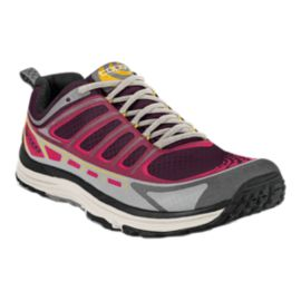 TOPO Women's Runventure Trail Running Shoes - Wine Red/Grey