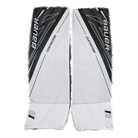 Bauer Supreme 1S OD1N Senior Goal Pads - White/Black | Sport