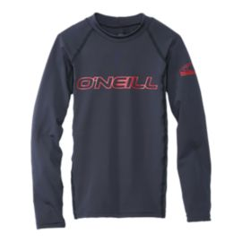 O'Neill Basic Skins Boys' Long Sleeve Crew Rashguard