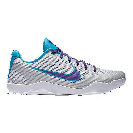 4431d8227eea0 Nike Men's Kobe XI 'Draft Day' Basketball Shoes - Silver/Purple/Blue | Sport  Chek