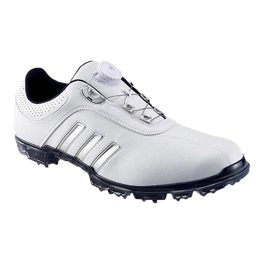 76b37b5a2 adidas Golf Men s Pure Metal BOA® Golf Shoes - White Silver Navy ...