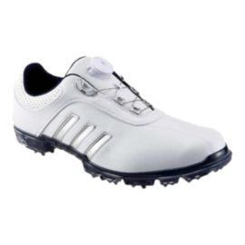 Adidas Golf Men's Pure Metal BOA® Golf Shoes - White/Silver/Navy
