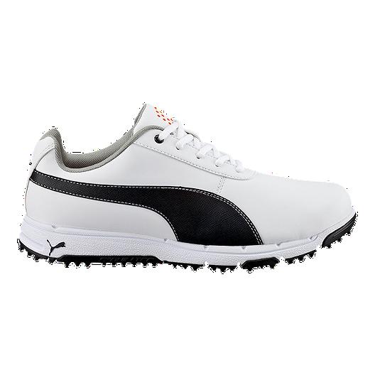 01834e9bcae8 PUMA Men s Grip V3 Golf Shoes - White Black
