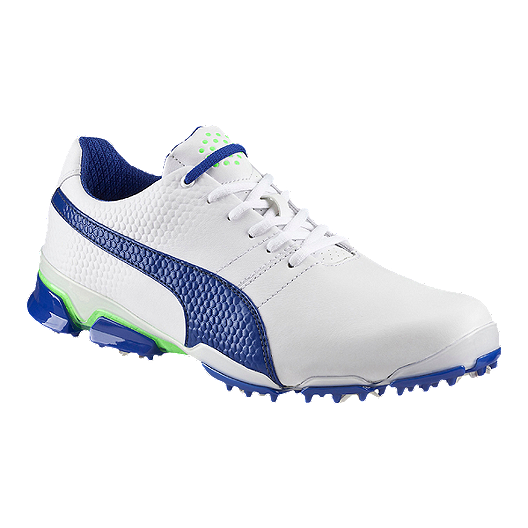 0a892bca49 PUMA Men's TitanTour Ignite Golf Shoes - White/Blue/Green | Sport Chek
