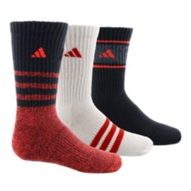 adidas Cushioned Assorted Youth Crew Socks 3-Pack