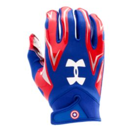 Under Armour F4 Captain America Football Gloves