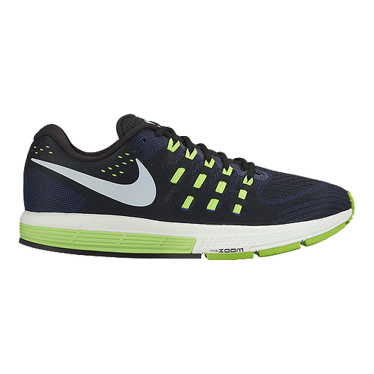 bc29f0be0ff97 Nike Men s Air Zoom Vomero 11 Running Shoes - Black Green