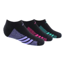 adidas Cushioned Girls' No Show Socks 3-Pack
