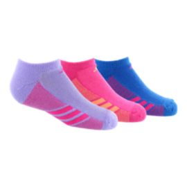 adidas Superlite Girls' No Show Socks 3-Pack