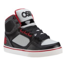 Osiris Kids' Crooklyn Preschool Skate Shoes - Black/Red/White
