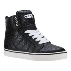 Osiris Girls' Sky Slim Grade School Skate Shoes - Black/Sparkle