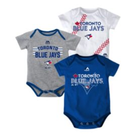 Toronto Blue Jays Baby 3 Strikes Bodysuit Set