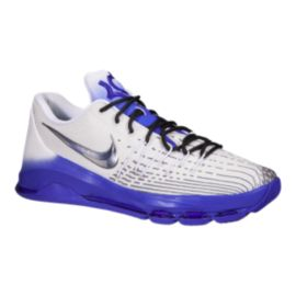 "Nike Men's KD 8 ""Retro Airfade"" Basketball Shoes - White/Silver/Purple"