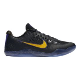 Nike Men's Kobe XI Basketball Shoes - Black/Yellow