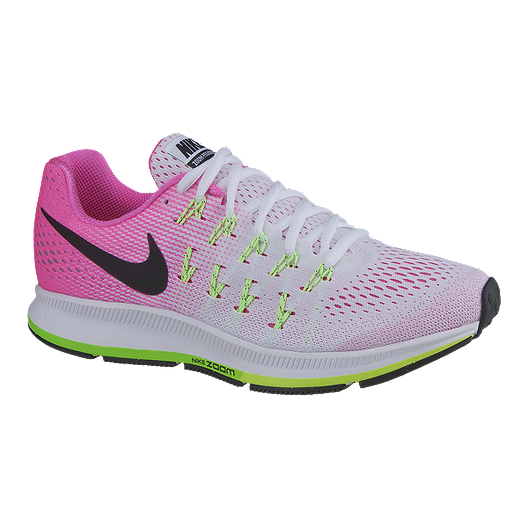 best service 1dc19 40592 Nike Women s Air Zoom Pegasus 33 Running Shoes - White Pink Volt Green    Sport Chek