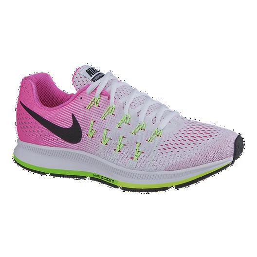 9e1d20fbfffb Nike Women s Air Zoom Pegasus 33 Running Shoes - White Pink Volt Green
