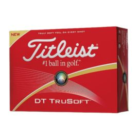 Titleist DT TruSoft Golf Balls - White 12 Pack 2016