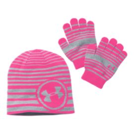 Under Armour Girls' Glove/Beanie Set