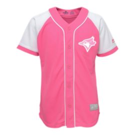 Toronto Blue Jays Toddler Girls' Pink Baseball Jersey