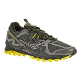 Saucony Men's Xodus 5.0 Trail Running Shoes - Grey/Yellow