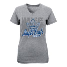 Toronto Maple Leafs Girls' Slant Smoke Repeat T Shirt