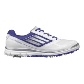 adidas Golf Women's Adizero Tour III Golf Shoes - White/Purple