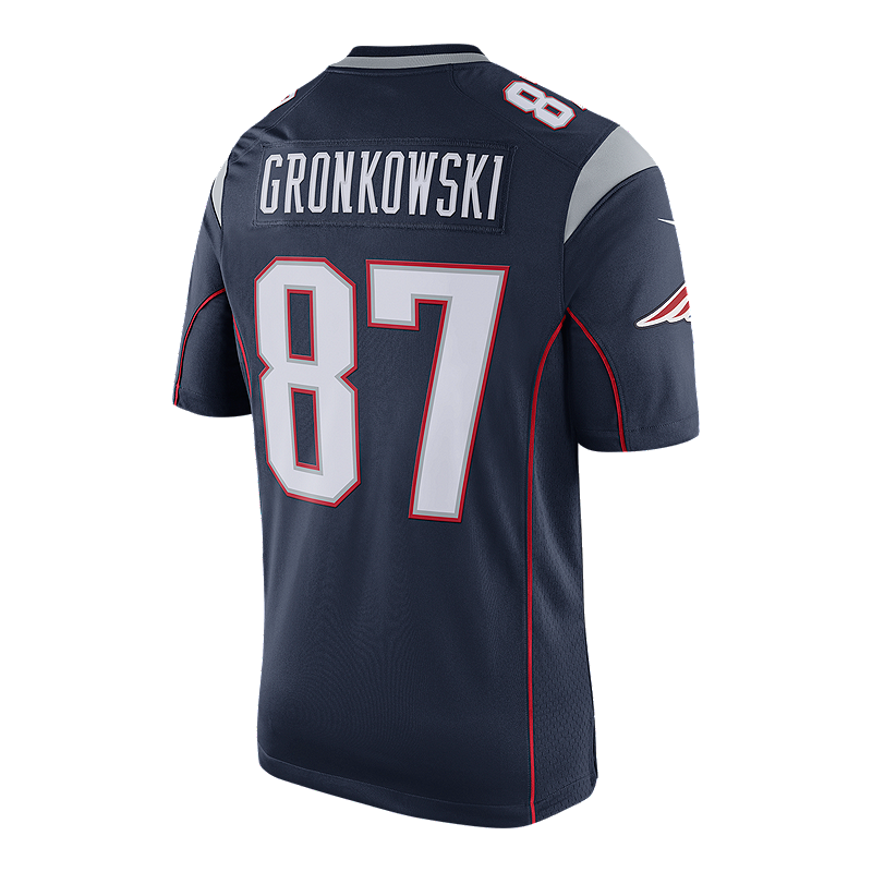 735e9a8af ... nike navy custom game jersey 45443 a7f2c  coupon new england patriots  rob gronkowski limited team jersey sport chek fde4d 1546b