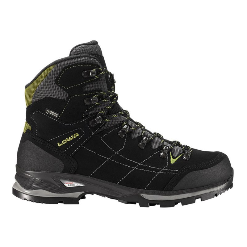 lowa s vantage gtx mid hiking boots grey black