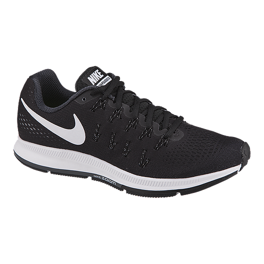 b21470e75020 Nike Men s Air Zoom Pegasus 33 Running Shoes - Black White