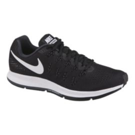 Nike Men's Air Zoom Pegasus 33 Running Shoes - Black/White