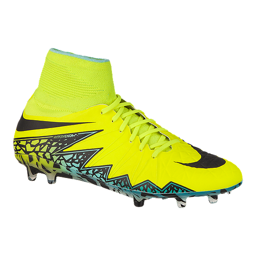 5f0434d94666 Nike Men's HyperVenom Phantom II FG Outdoor Soccer Cleats - Volt Green/Blue/ Black | Sport Chek
