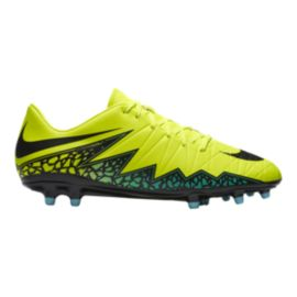 Nike Men's HyperVenom Phelon II FG Outdoor Soccer Cleats - Yellow/Black/Greeb