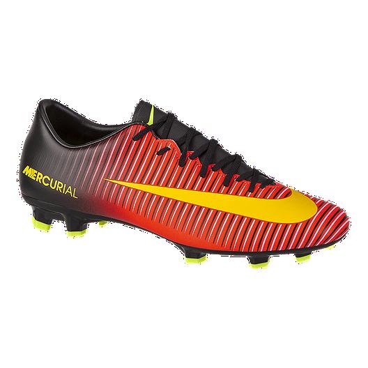 premium selection 12fd8 69e72 Nike Mens Mercurial Victory VI FG Outdoor Soccer Cleats - RedBlackOrange   Sport Chek