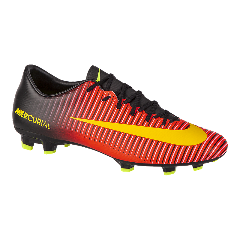 new arrival 5445b 3b70e Nike Men s Mercurial Victory VI FG Outdoor Soccer Cleats - Red Black Orange    Sport Chek