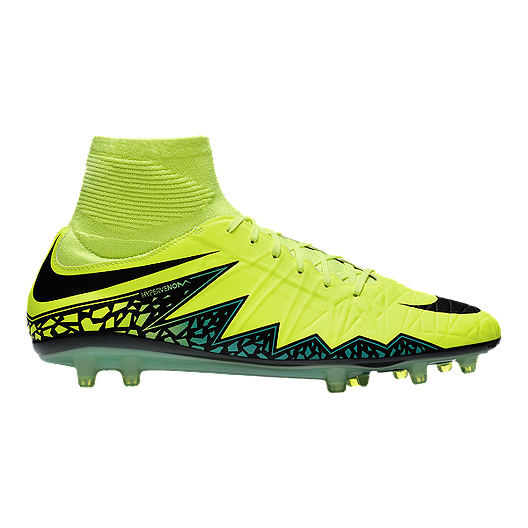 4e80b2453 Nike Men's HyperVenom Phatal II DF FG Outdoor Soccer Cleats - Volt  Green/Black/Blue | Sport Chek