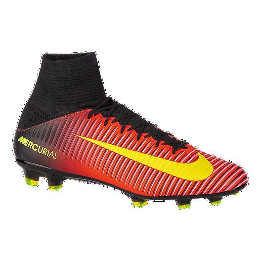 c34d35be1 Nike Men's Mercurial Veloce III FG Outdoor Soccer Cleats - Red/Black/Volt  Green | Sport Chek