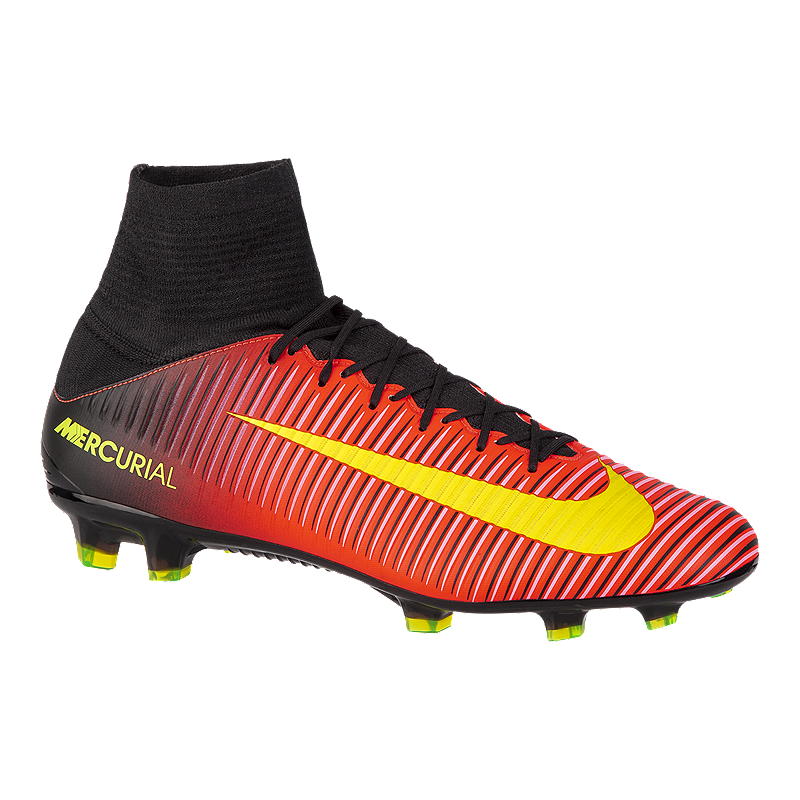 reputable site acc53 4b497 Nike Men s Mercurial Veloce III FG Outdoor Soccer Cleats - Red Black Volt  Green   Sport Chek